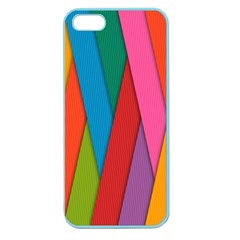 Colorful Lines Pattern Apple Seamless iPhone 5 Case (Color)