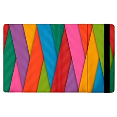 Colorful Lines Pattern Apple iPad 2 Flip Case