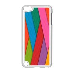 Colorful Lines Pattern Apple iPod Touch 5 Case (White)