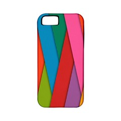 Colorful Lines Pattern Apple iPhone 5 Classic Hardshell Case (PC+Silicone)