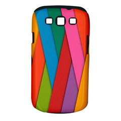 Colorful Lines Pattern Samsung Galaxy S III Classic Hardshell Case (PC+Silicone)