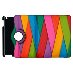 Colorful Lines Pattern Apple iPad 3/4 Flip 360 Case