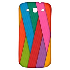 Colorful Lines Pattern Samsung Galaxy S3 S III Classic Hardshell Back Case