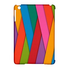 Colorful Lines Pattern Apple iPad Mini Hardshell Case (Compatible with Smart Cover)