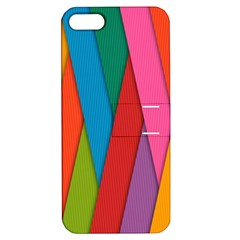 Colorful Lines Pattern Apple iPhone 5 Hardshell Case with Stand