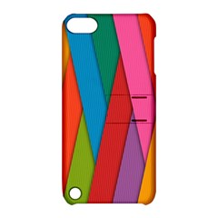 Colorful Lines Pattern Apple Ipod Touch 5 Hardshell Case With Stand