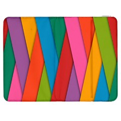 Colorful Lines Pattern Samsung Galaxy Tab 7  P1000 Flip Case