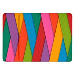 Colorful Lines Pattern Samsung Galaxy Tab 8.9  P7300 Flip Case