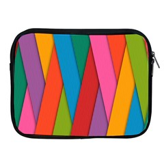 Colorful Lines Pattern Apple iPad 2/3/4 Zipper Cases