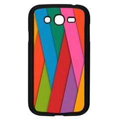 Colorful Lines Pattern Samsung Galaxy Grand DUOS I9082 Case (Black)