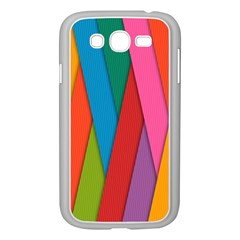 Colorful Lines Pattern Samsung Galaxy Grand DUOS I9082 Case (White)