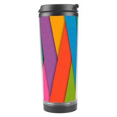 Colorful Lines Pattern Travel Tumbler