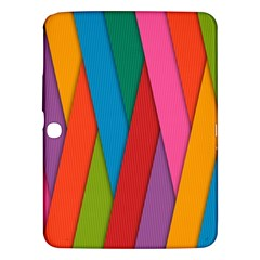 Colorful Lines Pattern Samsung Galaxy Tab 3 (10.1 ) P5200 Hardshell Case