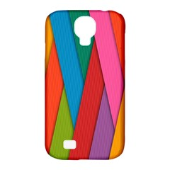 Colorful Lines Pattern Samsung Galaxy S4 Classic Hardshell Case (PC+Silicone)