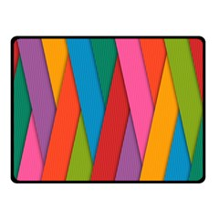 Colorful Lines Pattern Double Sided Fleece Blanket (Small)