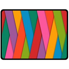 Colorful Lines Pattern Double Sided Fleece Blanket (Large)