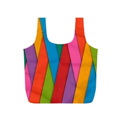 Colorful Lines Pattern Full Print Recycle Bags (S)