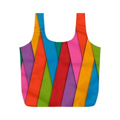 Colorful Lines Pattern Full Print Recycle Bags (M)