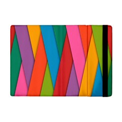 Colorful Lines Pattern iPad Mini 2 Flip Cases