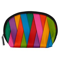 Colorful Lines Pattern Accessory Pouches (Large)