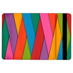 Colorful Lines Pattern iPad Air 2 Flip