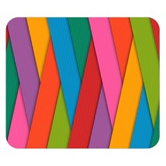 Colorful Lines Pattern Double Sided Flano Blanket (Small)
