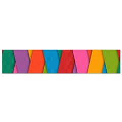 Colorful Lines Pattern Flano Scarf (Small)