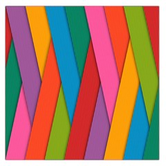 Colorful Lines Pattern Large Satin Scarf (Square)
