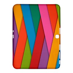 Colorful Lines Pattern Samsung Galaxy Tab 4 (10.1 ) Hardshell Case