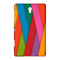 Colorful Lines Pattern Samsung Galaxy Tab S (8.4 ) Hardshell Case