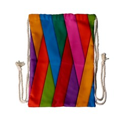 Colorful Lines Pattern Drawstring Bag (Small)