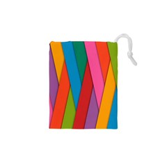 Colorful Lines Pattern Drawstring Pouches (XS)