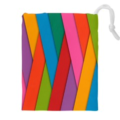 Colorful Lines Pattern Drawstring Pouches (XXL)