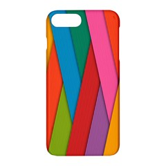 Colorful Lines Pattern Apple iPhone 7 Plus Hardshell Case