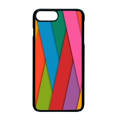 Colorful Lines Pattern Apple iPhone 7 Plus Seamless Case (Black)