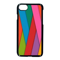 Colorful Lines Pattern Apple iPhone 7 Seamless Case (Black)