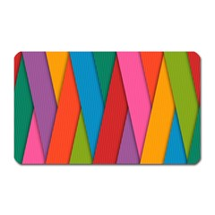 Colorful Lines Pattern Magnet (rectangular) by Simbadda