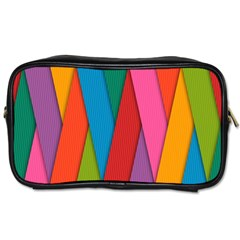 Colorful Lines Pattern Toiletries Bags 2 Side by Simbadda