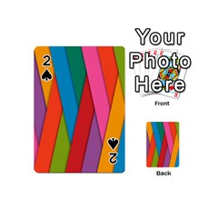 Colorful Lines Pattern Playing Cards 54 (mini)  by Simbadda