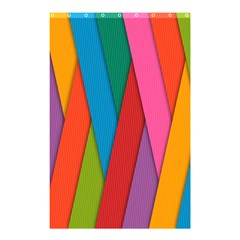 Colorful Lines Pattern Shower Curtain 48  X 72  (small)  by Simbadda