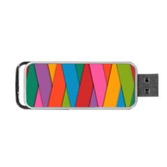 Colorful Lines Pattern Portable Usb Flash (two Sides)