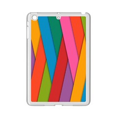 Colorful Lines Pattern Ipad Mini 2 Enamel Coated Cases