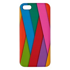 Colorful Lines Pattern Iphone 5s/ Se Premium Hardshell Case by Simbadda