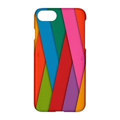 Colorful Lines Pattern Apple Iphone 7 Hardshell Case