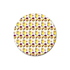 Hamburger And Fries Magnet 3  (round)
