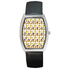 Hamburger And Fries Barrel Style Metal Watch
