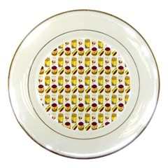 Hamburger And Fries Porcelain Plates by Simbadda