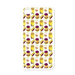 Hamburger And Fries Apple Iphone 4 Case (white)