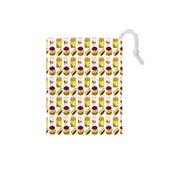 Hamburger And Fries Drawstring Pouches (small)