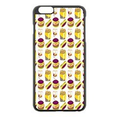 Hamburger And Fries Apple Iphone 6 Plus/6s Plus Black Enamel Case